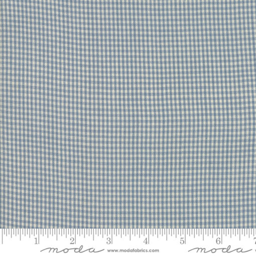Northport Silky Check  Med Blue
