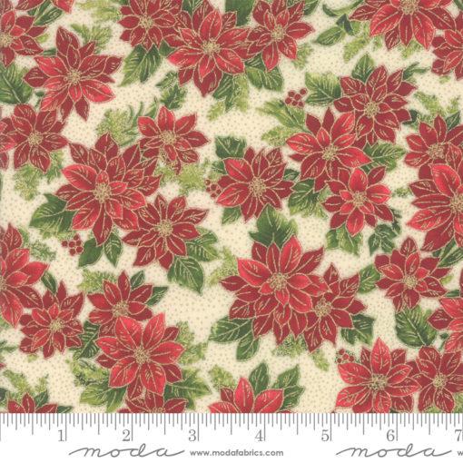 Poinsettias Pine          Cream