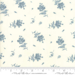 Northport Prints     Cream Blue