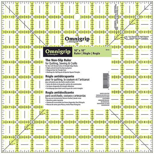 Omnigrip Square Ruler 10×10