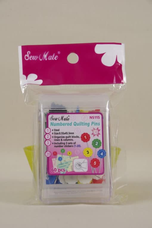Sew Mate Numbered Quilting Pins