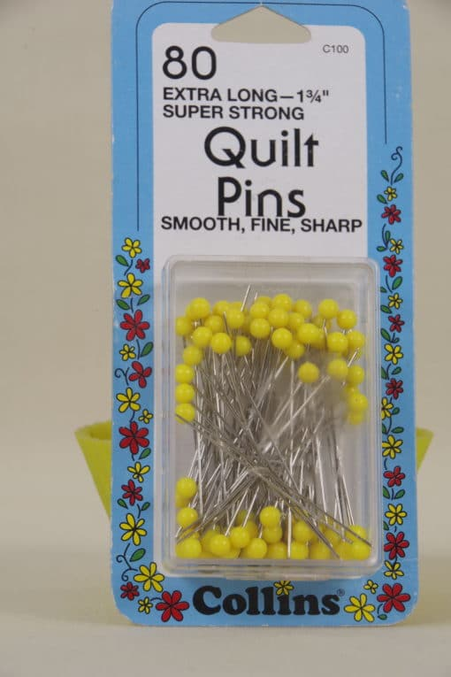 Collins 80 Quilting Pins Extralong