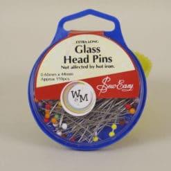 Sew Easy Glass Head Pins