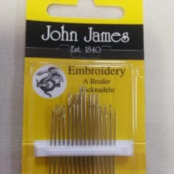 John James Embroidery Needles Size 5/10