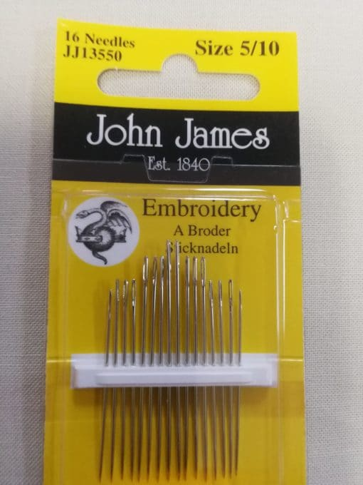John James Embroidery Needles Size 5/10