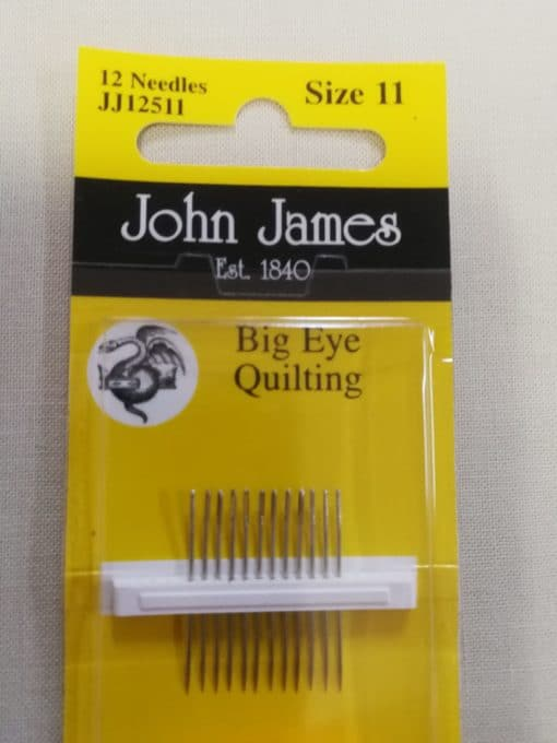 John James Embroidery Needles Size 11 Big eye Quilting