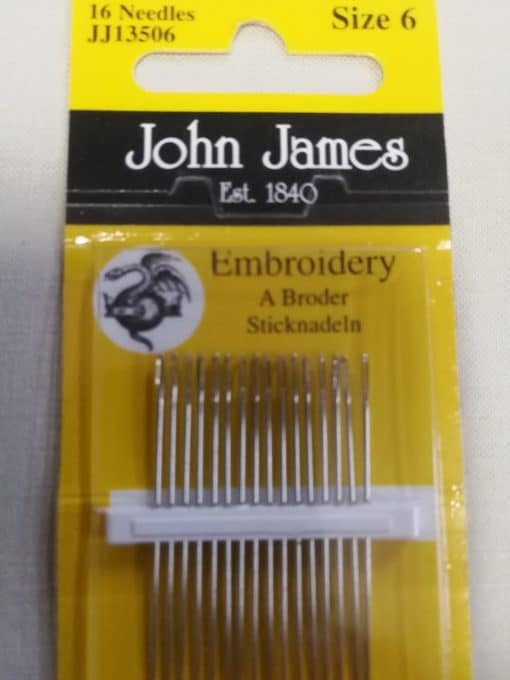 John James Embroidery Needles Size 6