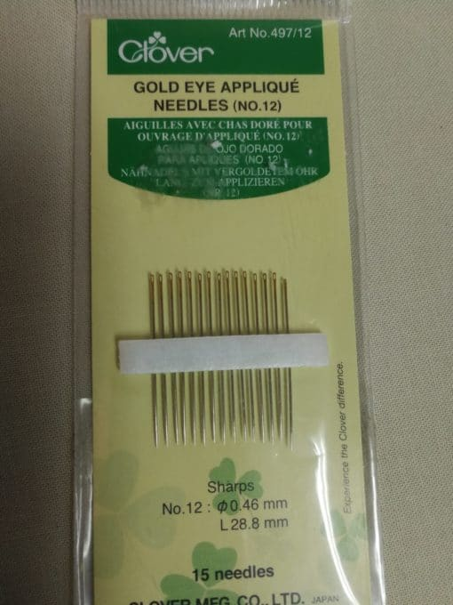 Clover Gold Eye Quilting Needles No 10