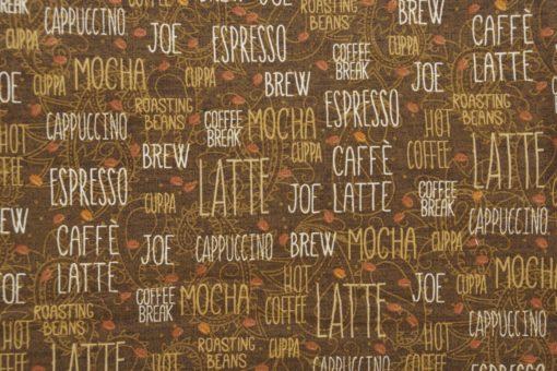 Studio Fabrics   Coffee Brake  Fabric