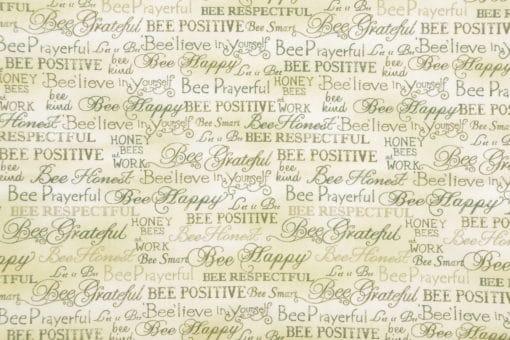 Paint Brush Studio Bee Kind Word Fabric