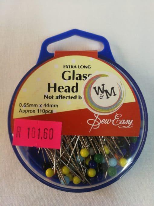 Sew Mate Glass Head Pins