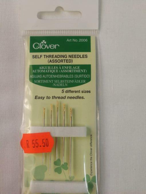 Clover Self threading needles (assorted)