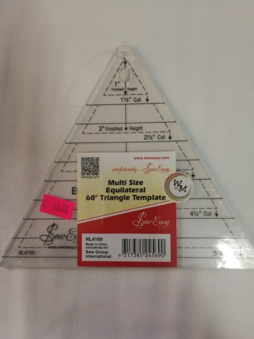 Sew Mate Multi Size Equilateral 60° Triangle Template