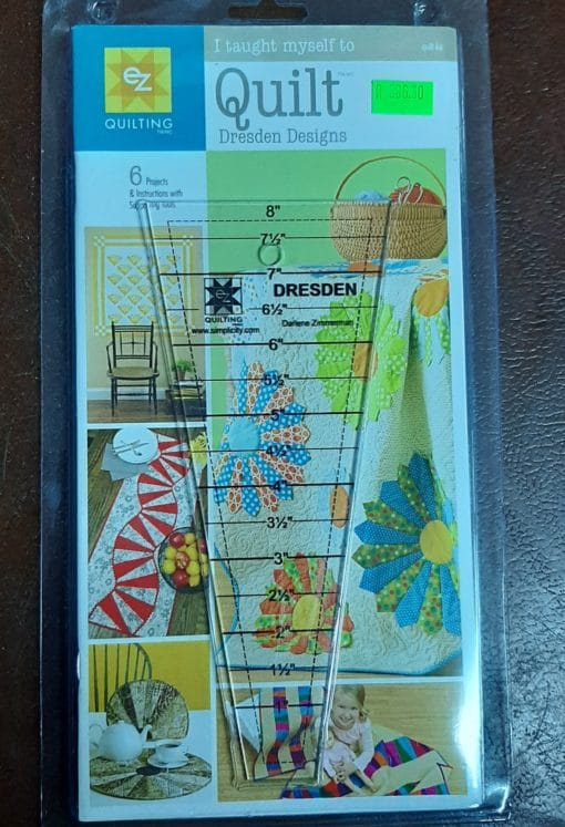 EZ Quilting Dresden ruler with 6 projects